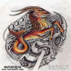 专属摩羯座的纹身图案
