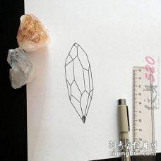 黑色线条几何元素创意文艺小清新纹身手稿