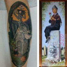 关于幽灵的创意个性搞怪纹身图案