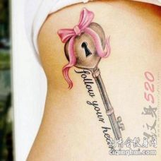关于钥匙的素描创意个性纹身图案