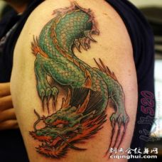 关于龙的创意个性设计感十足霸气纹身图案