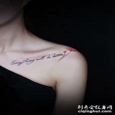 锁骨花纹身小图案 甜美女生锁骨雪花时尚纹身图案