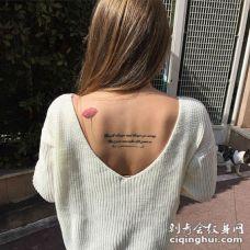 罂粟花纹身图案 性感背部罂粟花纹身图案