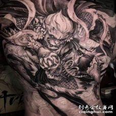 孙悟空纹身 大满背的齐天大圣纹身图案
