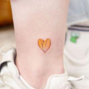 脚踝小清新纹身图案