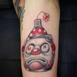 手臂newschool小丑纹身图案