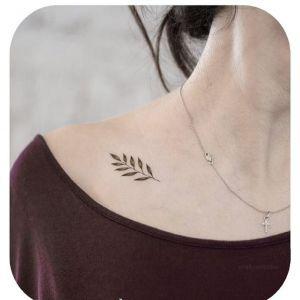 肩部小清新纹身图案
