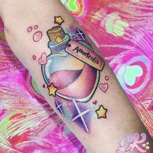手臂newschool瓶子英文纹身图案