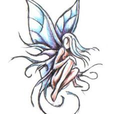 蝴蝶精灵纹身手稿