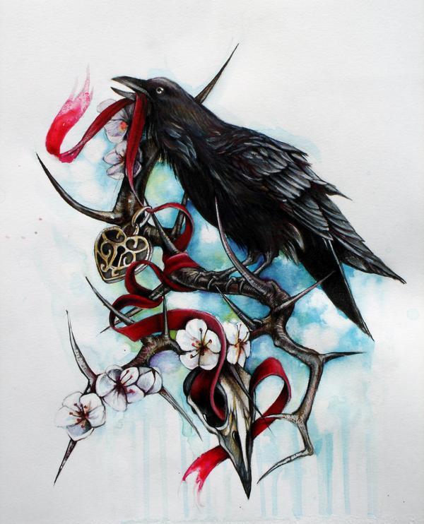 乌鸦纹身素材
