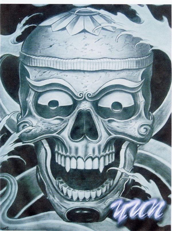 个性嘎巴拉纹身手稿