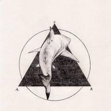 三角形和大鲨鱼纹身手稿