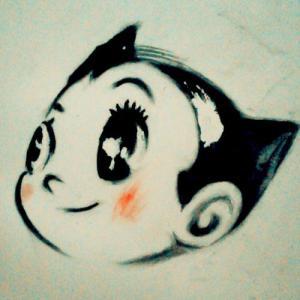 可爱阿童木纹身手稿图片