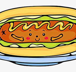 卡通可爱热狗纹身手稿图片