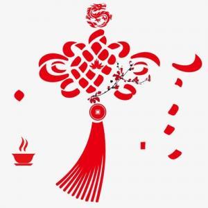 创意梅花中国结纹身手稿图片