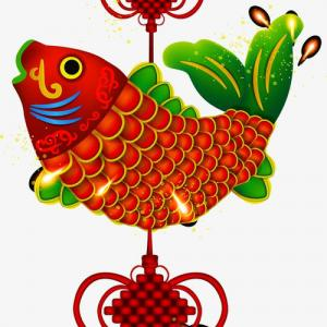 鲤鱼中国结纹身手稿图片
