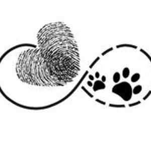 爱心指纹.狗爪子纹身手稿图片