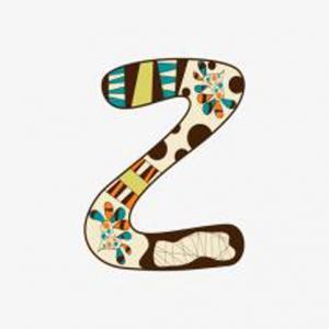 创意卡通装饰英文字母z纹身手稿图片
