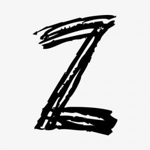 手绘卡通英文字母Z纹身手稿图片