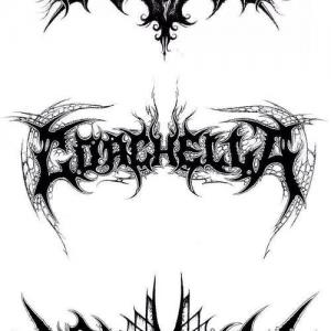 颈部纹身手稿图片