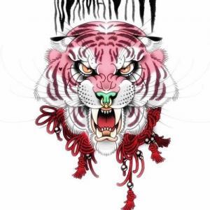 new.school老虎纹身手稿图片