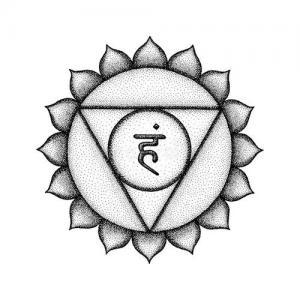 印度教音节莲花瓣纹身手稿图片