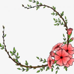 藤蔓花环纹身手稿图片