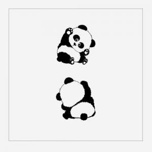 小清新可爱熊猫纹身手稿图片