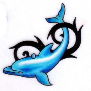 个性海豚纹身图案图片
