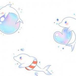 小清新可爱海豚纹身图案图片