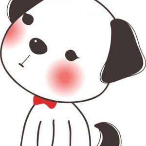 卡通呆萌小狗纹身手稿图片