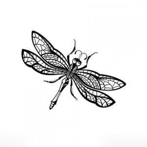 蜻蜓纹身手稿图片