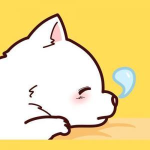 卡通睡觉的小狗纹身手稿图片