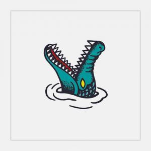 鳄鱼纹身手稿图片