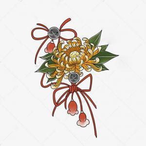 创意菊花铃铛纹身手稿图片