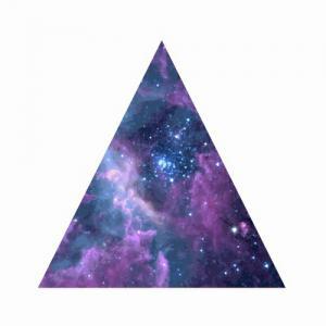 三角形唯美星空纹身手稿图片