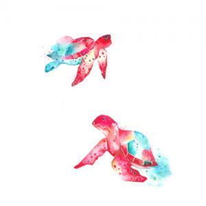 水墨乌龟纹身手稿图片