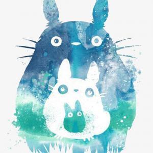 创意唯美龙猫纹身手稿图片