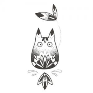 创意龙猫纹身手稿图片