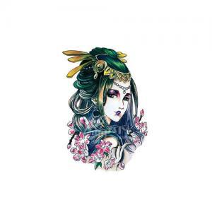 唯美戏子纹身手稿图片