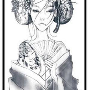 素描戏子纹身手稿图片