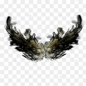 水墨恶魔翅膀纹身手稿图片