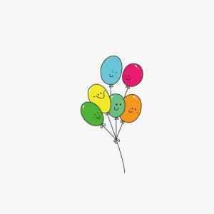 表情气球纹身手稿图片