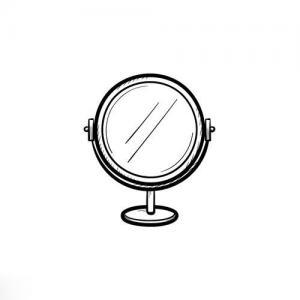写实镜子纹身手稿图片