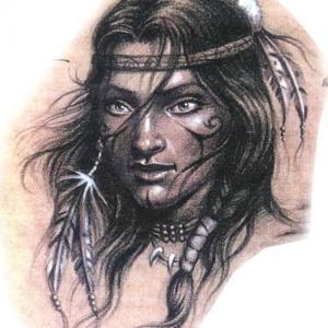 国外人物肖像纹身手稿图片