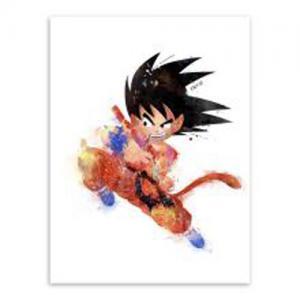 彩色七龙珠悟空人物纹身手稿图片
