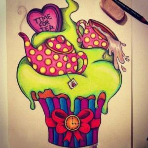 创意个性冰淇淋纹身手稿图片