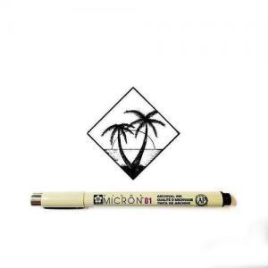椰树纹身手稿图片