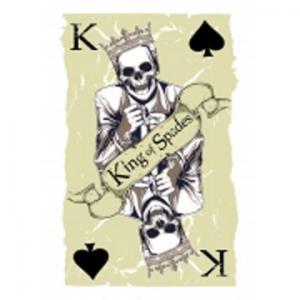 黑桃k骷髅扑克纹身手稿图片
