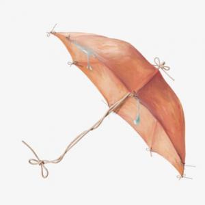 创意水彩雨伞纹身手稿图片